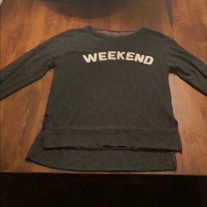 weekend long sleeve sweater t shirt
